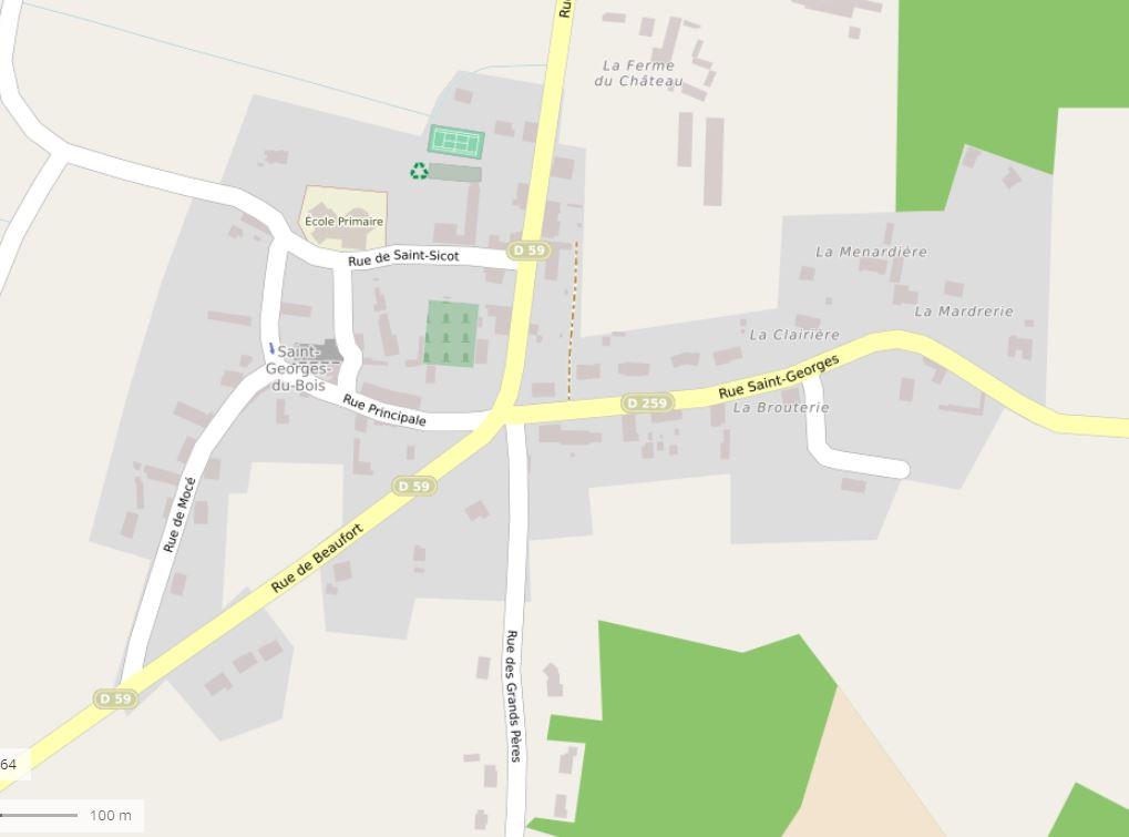 Plan Saint-georges-du-bois